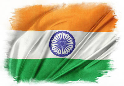 Photograph - Indian Flag by Les Cunliffe