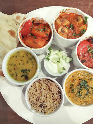 Indian Food Selection Art Print by Tom Gowanlock