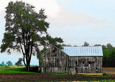 Indiana Barn Print by Joyce Kimble Smith