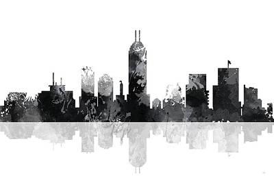 Indiana Indianapolis Skyline Art Print