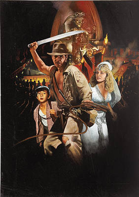 Temple Digital Art - Indiana Jones And The Temple Of Doom 1984 by Geek N Rock
