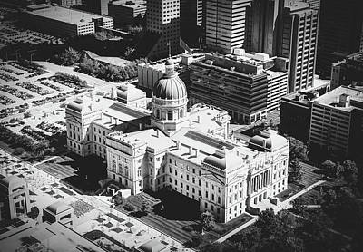 Photograph - Indiana Statehouse - Indianapolis by Library Of Congress