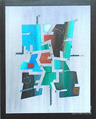 Painting - Industrial Abstractica Grey 2 by John Lyes