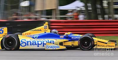 Will Power Mixed Media - Pro Indycar Racing by Douglas Sacha