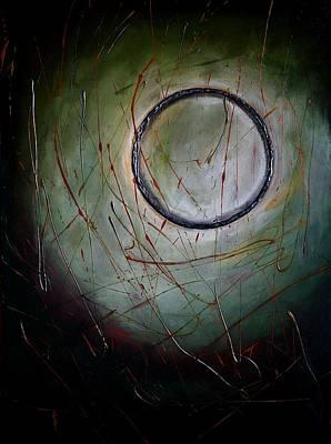 Acrylic. Green Painting - Infinity by Vel Verrept