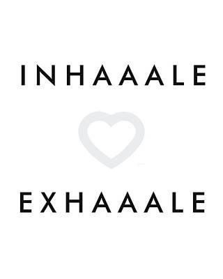 Affiche Mixed Media - Inhale Exhale by Studio Grafiikka
