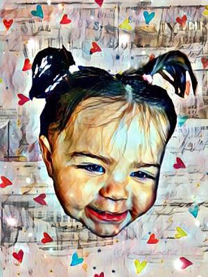 Digital Art - Innocence by Vennie Kocsis
