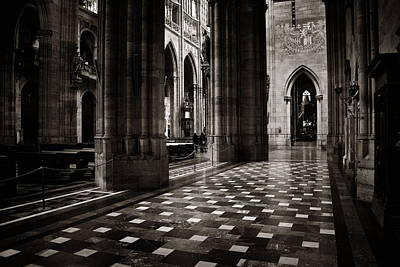 Photograph - Interior View Of St. Vitus Cathedral by Songquan Deng
