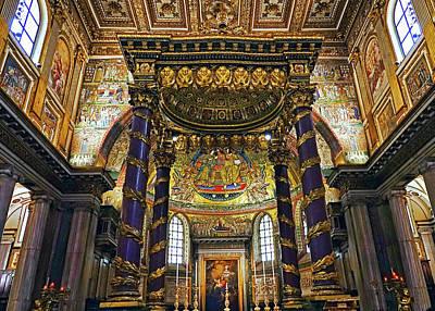 Interior View Of The Basilica Di Santa Maria Maggiore In Rome Italy Art Print