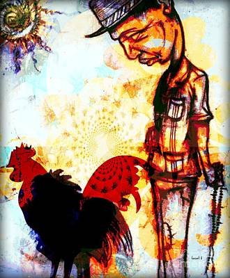 Interpretation Of Something I Saw In Dakar Art Print