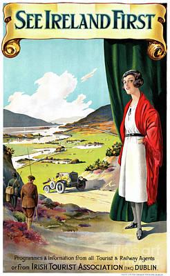 Mixed Media - Ireland Restored Vintage Travel Poster by Carsten Reisinger