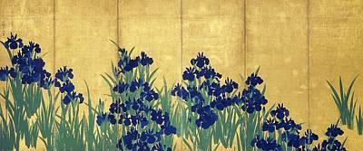 Painting - Irises by Ogata Korin