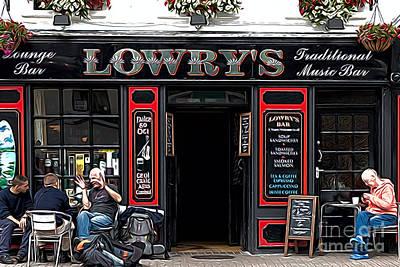 People Photograph - Irish Pub by Andrew Michael