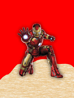 Robert Downey Jr Mixed Media - Iron Man Collection by Marvin Blaine