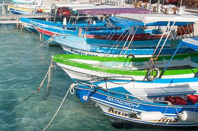 Isla Mujeres Boats Art Print
