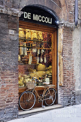 Italian Delicatessen Or Macelleria Art Print by Jeremy Woodhouse