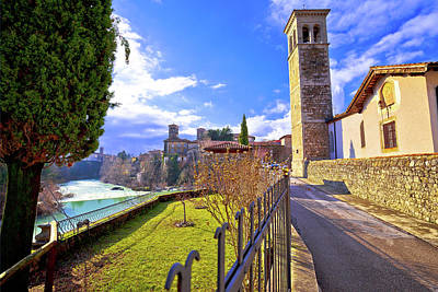 Photograph - Italian Heritage In Cividale Del Friuli Natisone River Canyon An by Brch Photography