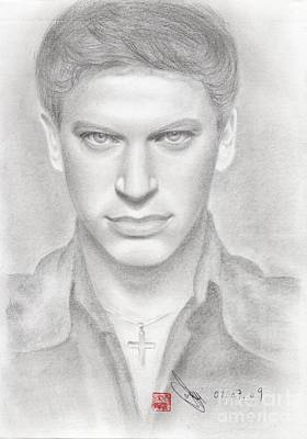 Art Print featuring the drawing Italian Singer Patrizio Buanne by Eliza Lo