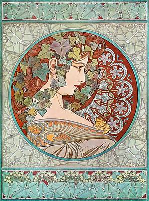 Painting - Ivy by Alphonse Mucha