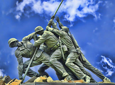 Photograph - Iwo Jima Memorial # 3 by Allen Beatty