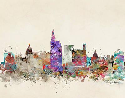 Colourfull Painting - Jackson Mississippi by Bleu Bri