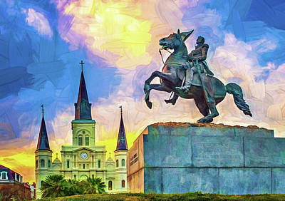 Photograph -  Jackson Square - Paint by Steve Harrington