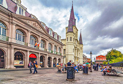 Cathedral Photograph - Jackson Square by Steve Harrington