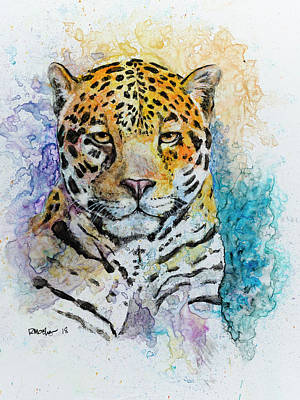 Painting - Jaguar by Rick Mosher