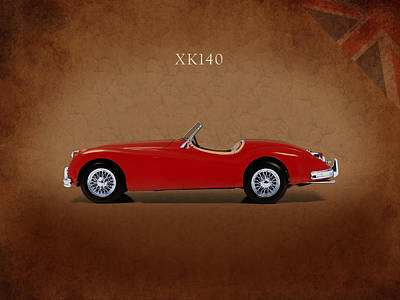 Photograph - Jaguar Xk140 by Mark Rogan