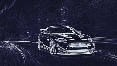 Digital Art - Jaguar Xkr S Gt  by PixBreak Art