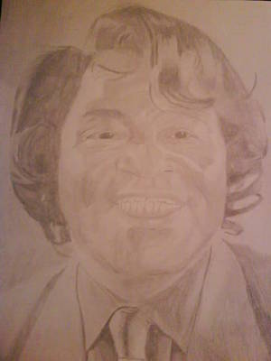 Drawing - James Brown by Milton  Gore