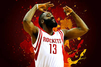 Blake Digital Art - James Harden by Semih Yurdabak