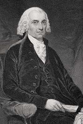 James Madison Drawing - James Madison 1751-1836. Fourth by Vintage Design Pics