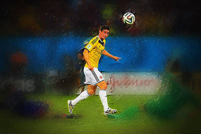 Cristiano Ronaldo Digital Art - James Rodriguez by Semih Yurdabak
