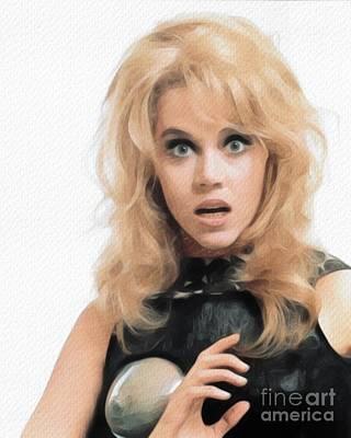 Impressionist Landscapes - Jane Fonda, Actress by Esoterica Art Agency