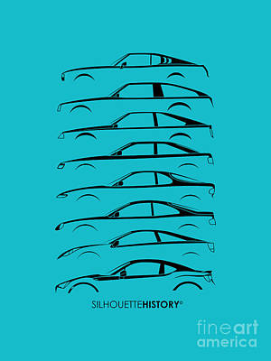 Japanese Coupe Silhouettehistory Art Print