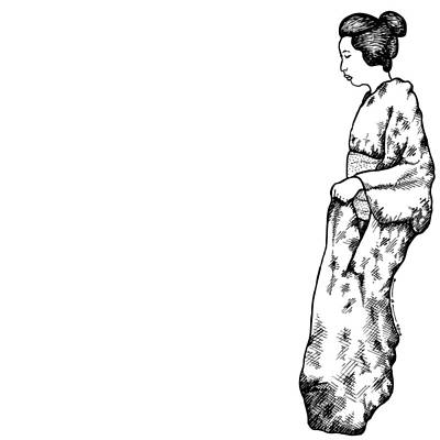 Illustrate Drawing - Japanese Geisha Women by Karl Addison