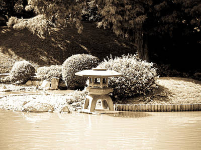 Photograph - Japanese Hill And Pond Garden New York by Mickey Clausen