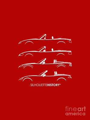 Japanese Roadster Silhouettehistory Art Print by Gabor Vida