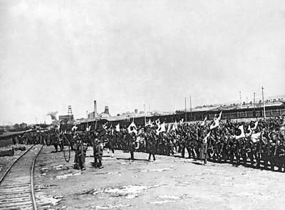 Terminal Photograph - Japanese Troops In Manchuria by Underwood Archives