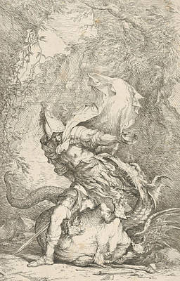 Relief - Jason And The Dragon by Salvator Rosa