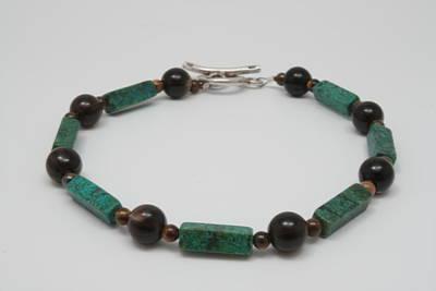 Sterling Silver Bracelet Jewelry - Jasper Tiger by Jerri Nielsen