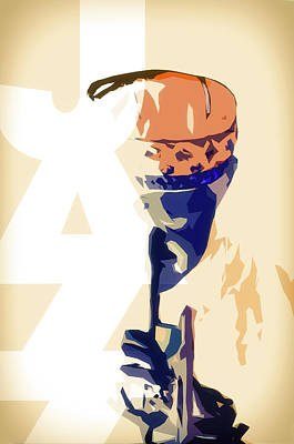 Trumpet Mixed Media - Jazz Poster by Konstantin Sevostyanov