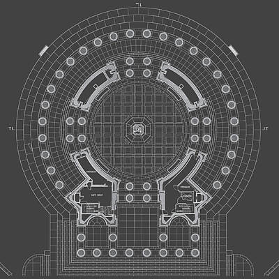 Jefferson Memorial Drawing - Jefferson Memorial - Ceiling Plan - Washington, Dc - Circa 1938   by Wall Artifact