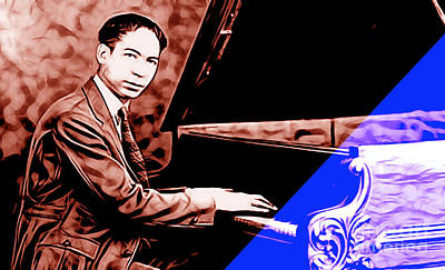 Jazz Mixed Media - Jelly Roll Morton Collection by Marvin Blaine