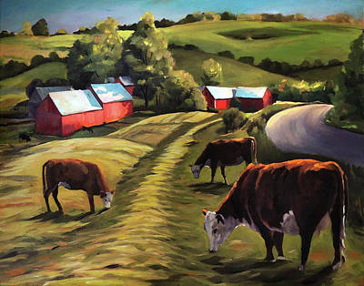 Painting - Jenne Farm In Reading Vermont by Nancy Griswold