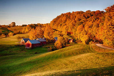 Fall Colors Photograph - Jenne Farm by Jeff Folger