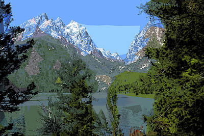 Mixed Media - Jenny Lake by Rick Thiemke
