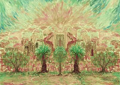 Jerusalem Of Light Art Print