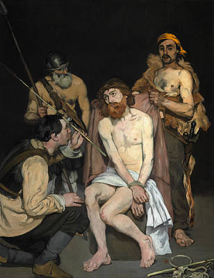 Manet Painting - Jesus Mocked By The Soldiers by Edouard Manet